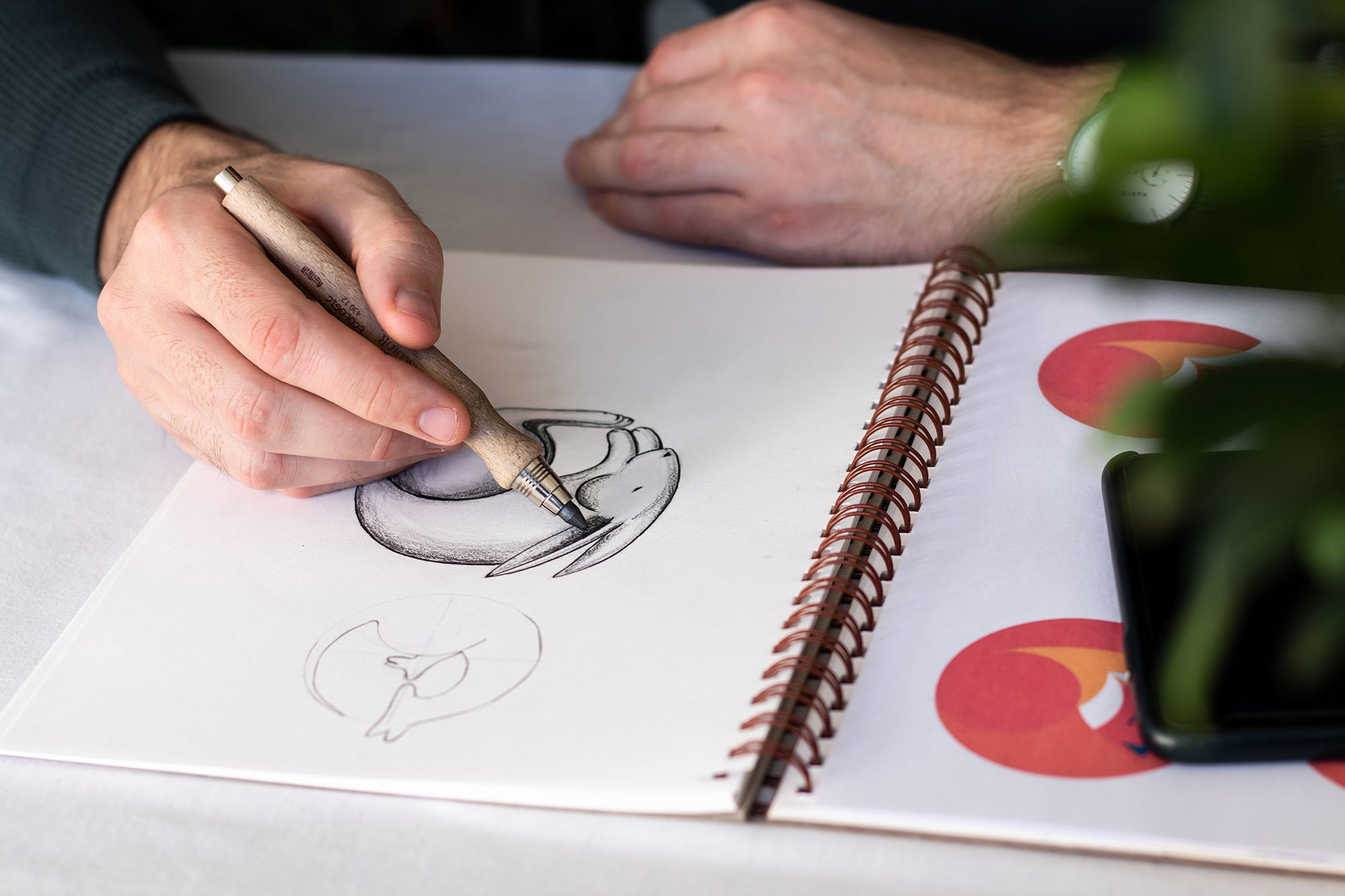We spend time sketching and digitising a range of initial concepts and shortlist the two strongest concepts.